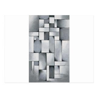 セオvan Doesburg著灰色の構成 ポストカード