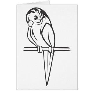 セキセイインコのオウムの鳥 カード