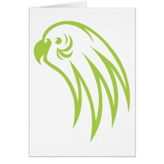 セキセイインコの鳥の熟考 カード
