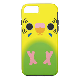 セキセイインコ(薄緑の道化師) iPhone 7ケース