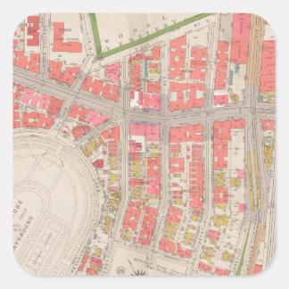 セクション12ブロンクスの地図 スクエアシール