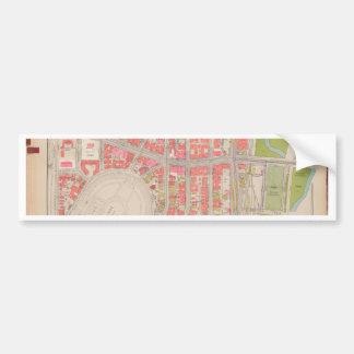 セクション12ブロンクスの地図 バンパーステッカー