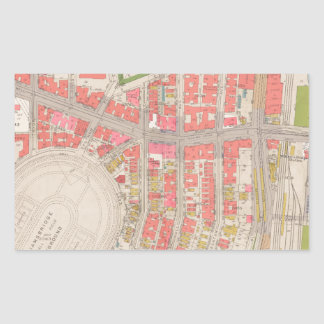 セクション12ブロンクスの地図 長方形シール