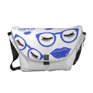 セクシーで青いガラス媒体のメッセンジャーバッグ メッセンジャーバッグ