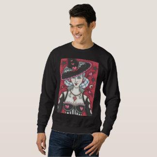 セクシーなゴシックの魔法使いの悪賢いバレンタインのスエットシャツメンズ スウェットシャツ