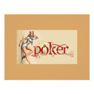セクシーなトランプのポーカーの女性 チラシ