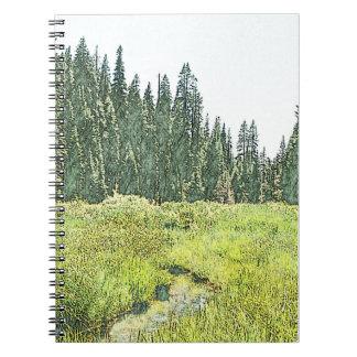セコイア流れ-紀行ジャーナル(自然な) ノートブック