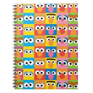 セサミストリートのキャラクターの眼状斑 ノートブック