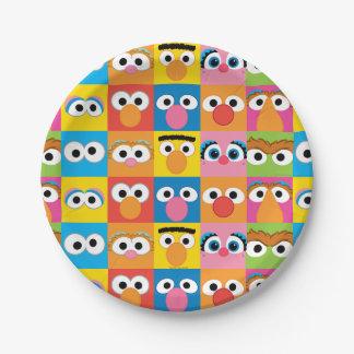 セサミストリートのキャラクターの眼状斑 ペーパープレート