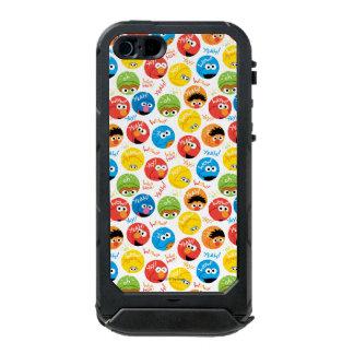 セサミストリートの円のキャラクターパターン ウォータープルーフiPhone SE/5/5sケース