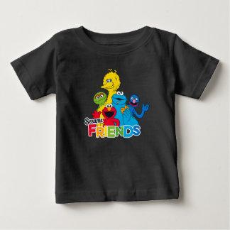 セサミストリート のゴマの友人 ベビーTシャツ