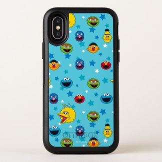 セサミストリート の親友の星パターン オッターボックスシンメトリー iPhone X ケース