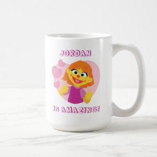 セサミストリート|ジュリアのピンクのハート コーヒーマグカップ