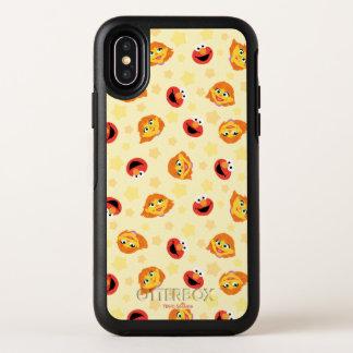 セサミストリート ジュリア及びElmoの黄色い星パターン オッターボックスシンメトリー iPhone X ケース