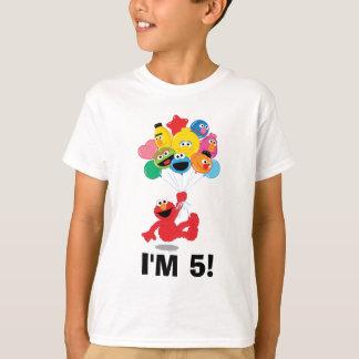 セサミストリート| Elmoおよび友達-誕生日の気球 Tシャツ