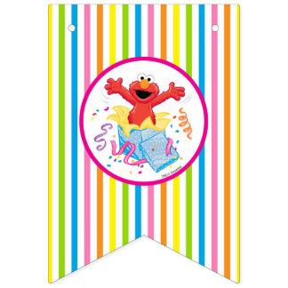 セサミストリート| Elmoの女の子の誕生日 バンティングフラッグ