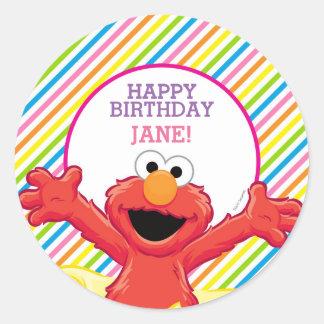 セサミストリート| Elmoの女の子の誕生日 ラウンドシール