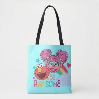 セサミストリート| Elmo及びAbby -素晴らしいがあって下さい トートバッグ