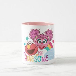 セサミストリート| Elmo及びAbby -素晴らしいがあって下さい マグカップ