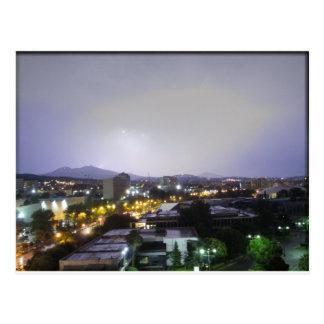 セサロニキ、ギリシャ上の雷雨 ポストカード