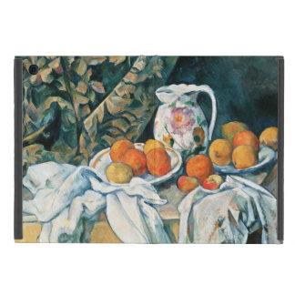セザンヌの静物画のカーテン、開花した水差し、フルーツ iPad MINI ケース