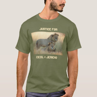 セシル及びエリコのための正義兄弟のライオン Tシャツ