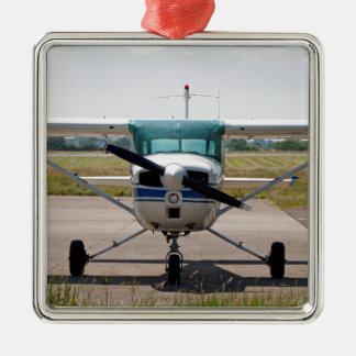 セスナの軽飛行機 メタルオーナメント
