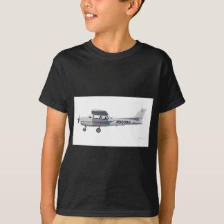 セスナ172 Skyhawkの青 Tシャツ
