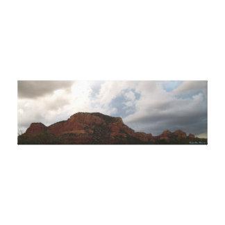 セドナのグランドキャニオンのアリゾナの砂漠の空の景色 キャンバスプリント