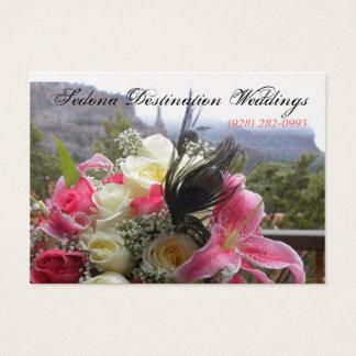 セドナの行先の結婚式のウェディングプランナーカード 名刺