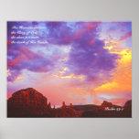 セドナAZの日没の賛美歌の19:1ポスタープリント ポスター