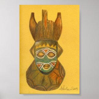 セネガルからのマスク ポスター