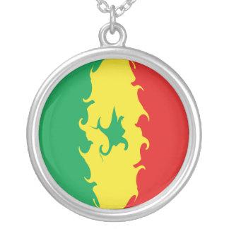 セネガルのすごい旗 ネックレス