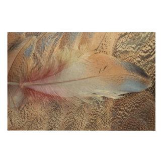 セネガルのノガン科の羽の終わり ウッドウォールアート