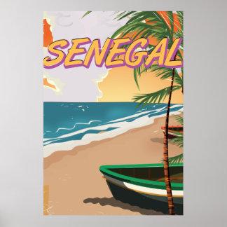 セネガルのヴィンテージのビーチポスター ポスター
