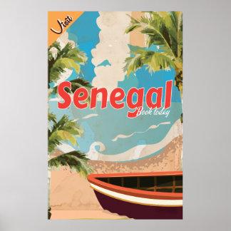 セネガルの休暇のヴィンテージ旅行ポスター ポスター