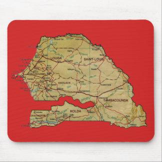 セネガルの地図のマウスパッド マウスパッド