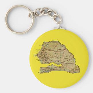 セネガルの地図Keychain キーホルダー