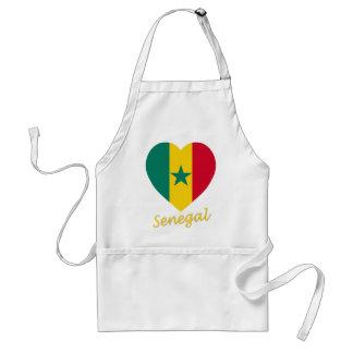 セネガルの旗のハート スタンダードエプロン