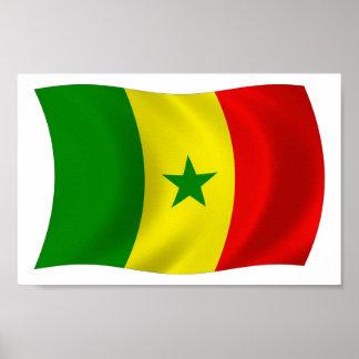 セネガルの旗ポスタープリント ポスター