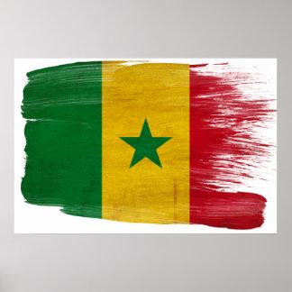 セネガルの旗ポスター ポスター