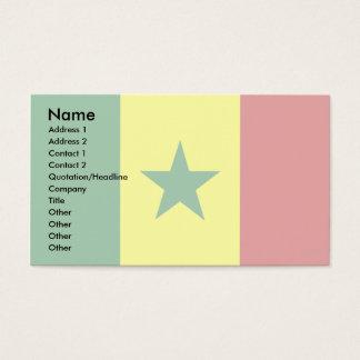 セネガルの旗 名刺