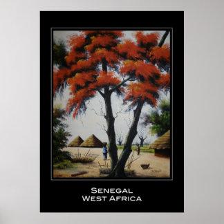 セネガルの芸術ポスター ポスター