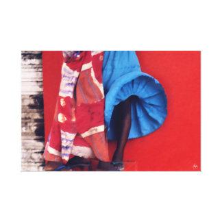 セネガルの風のブラシストローク キャンバスプリント