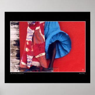 セネガルの風のブラシストローク ポスター