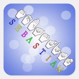 セバスチャンFINGERSPELLED ASLの一流の印 スクエアシール