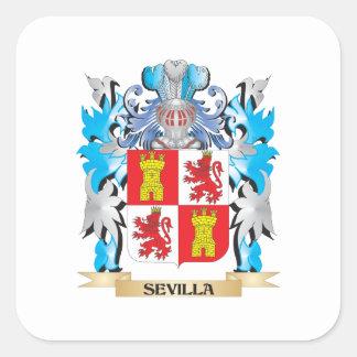 セビリアの紋章付き外衣-家紋 スクエアシール