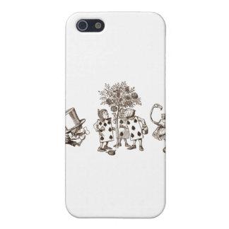 セピア色のアリス及び不思議の国の集団 iPhone 5 カバー