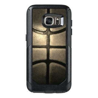 セピア色のバスケットボールのスタイルのSamsungの例 オッターボックスSamsung Galaxy S7ケース