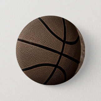 セピア色のバスケットボール 5.7CM 丸型バッジ